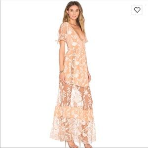 For Love And Lemons Mia Maxi Dress Size Small